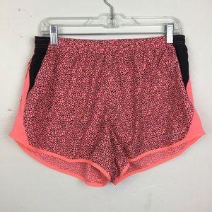 Nike Running Neon Pink/Black Workout Shorts Size L